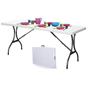 Folding garden table white - catering table 180x70x72 cm - foldable