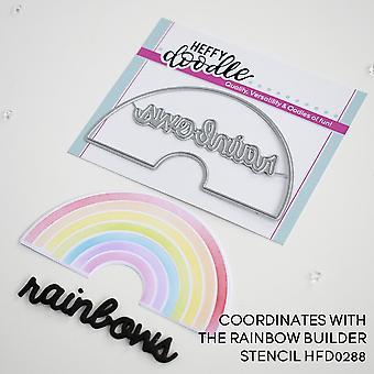 Heffy Doodle Rainbow Builder Dies