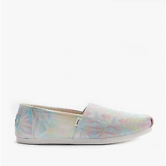 TOMS Alpargata Ladies Jersey Espadrille Chaussures White Tie Dye