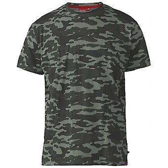 DUKE Duke Herren große Größe - Gaston - D555 Camo Baumwolle Rundhals T Shirt T Shirt