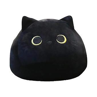 Ihana sarjakuvaeläin täytetty söpö musta kissa muotoiltu pehmeä tyynyt