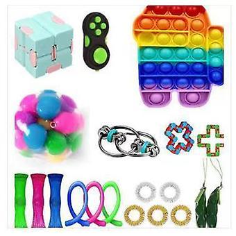 20pcs לארוז צעצוע חושי להגדיר Antistress הקלה צעצועים פידג'ט