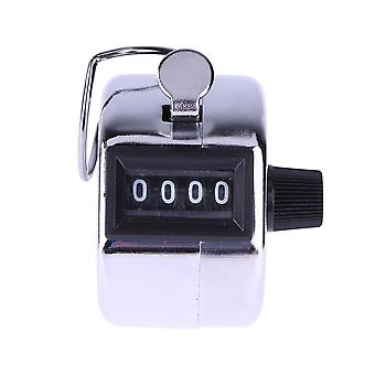 4 Digit Number Counters Hand Finger Mechanical Manual Counting Tally Clicker