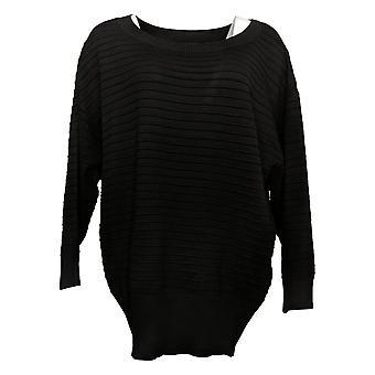 Nina Leonard Women's Sweater Dolman-Sleeve Pullover Black 712605