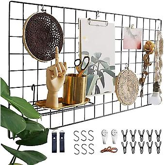 FengChun Wandgitter Schwarz ,Wanddekor, Multifunktionale Gitterwand, DIY Eisen Gitter der Fotowand