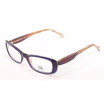 Face A Face Eyeglasses Frame Roxan 2 375 Purple Yellow Plastic France Hand Made