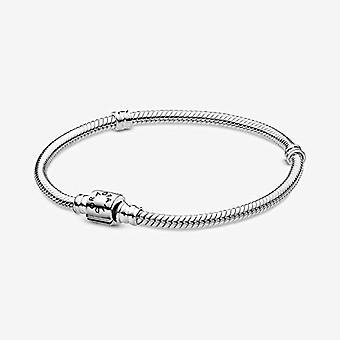 باندورا ثعبان سوار محبوك مع إغلاق اسطوانة والفضة الاسترليني، اللون: الفضة، رمز 598816C00-15