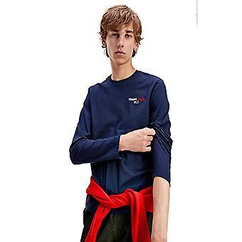 Tommy Jeans Tjm Longsleeve Corp Tee Shirt, Twilight Navy, S Man