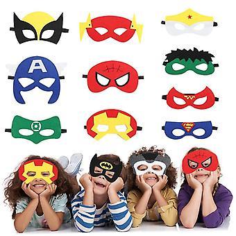 Superhero Party armbånd, Filt Masker Ark klistermærker Tema, Fødselsdagsfest