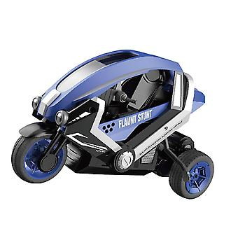 High Speed Remote Control RC Stunt Motorbike Motorcycle 3 Wheel Stunt Car For Kids Drift Toys(Blue)
