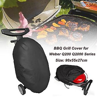 90x55x27cm 210D Oxford Cloth Waterproof Dustproof  BBQ Grill Cover For Weber Q200/2000 Series