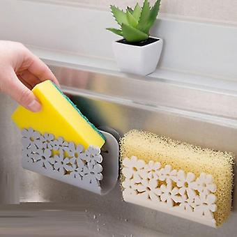 1pc Plastic Suction Cup Sink Drain Rack Wall Sucker