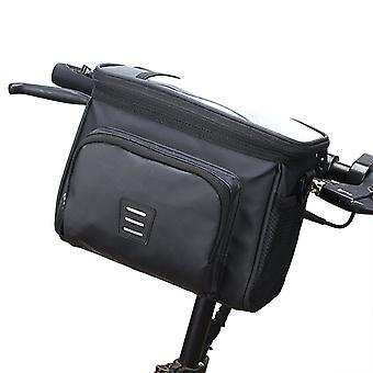 Foldable bicycle front bag, waterproof and wear-resistant sundries storage bag
