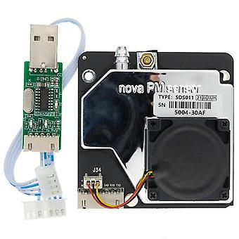 1Pcs נובה pm חיישן sds011 לייזר דיוק גבוה pm2.5 חיישני אבק סופר, פלט דיגיטלי
