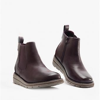 Heavenly Feet Rolo4 Ladies Chelsea Boots Purple