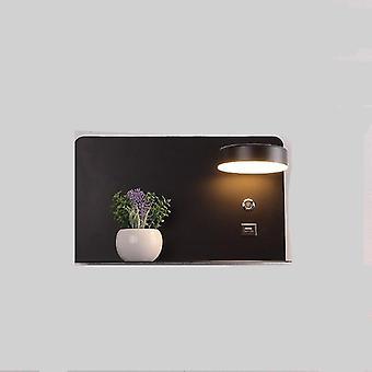 נורות קיר הובילו עם מתג ומנורת אופנה ממשק USB