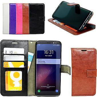 Läder Fodral / Plånbok / Skal / Skydd Samsung Galaxy S6