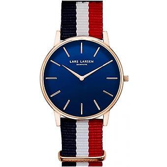 LLarsen (Lars Larsen Tricolored Textile) 147RD-ANR20 Men's Watch