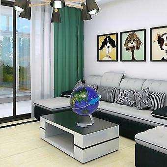 """4"""" Self-rotating Geography World Globe World Map Ornaments Home Office Decor"""