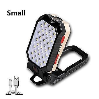 Forte luce di lavoro magnetica usb ricaricabile led pannocchia torcia portatile regolabile impermeabile