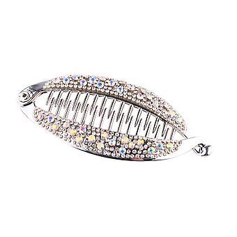 Women Crystal Hair Clip Ponytail Hairpin Headwear Clip Barrette