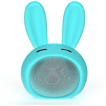 Venalisa Słodki głośnik Bluetooth   Zabawny i potężny zestaw głośnomówiący   Wodoodporny, turkusowy