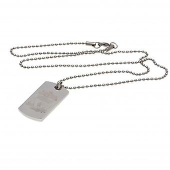 Liverpool gegraveerd dog tag & ketting CR
