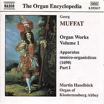 G. Muffat - Georg Muffat: Elin toimii, Vol. 1 [CD] USA tuonti