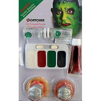 Componen juego Frankenstein con lentes de contacto maquillaje sangre Stud