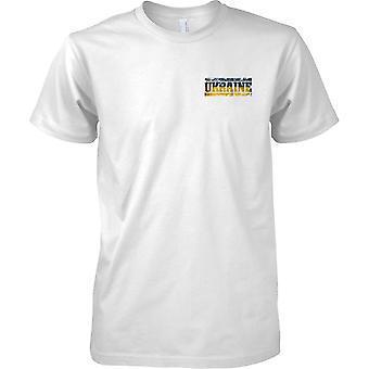 Ukraine Grunge Land Name Flag Effect - Mens Brust Design T-Shirt