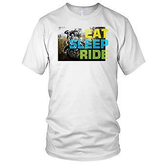 Essen Sie schlafen Fahrt Offroad Biker Herren T Shirt