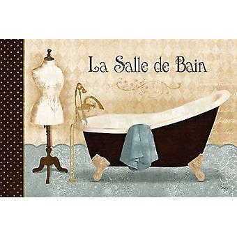 La Salle de Bain affiche Print de Mollie B (18 x 12)