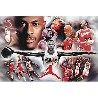 Michael Jordan Collage Poster Poster afdrukken