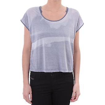 Diesel Womens Cropped Striped T Shirt