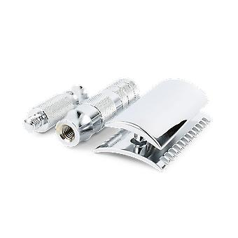 Merkur 985CL Open Chrome Travel Double Edge Safety Razor (90 985 000)