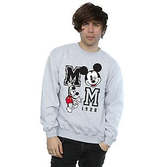Disney Men's Mickey Mouse Jump And Wink Sweatshirt