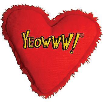 Yeowww Catnip Hearrrt Attack Cat Toy