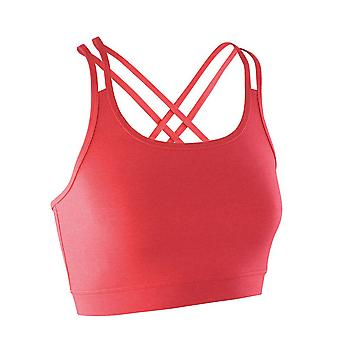 Spiro Ladies Fitness Polyester Nylon Quick Dry Training Crop Top
