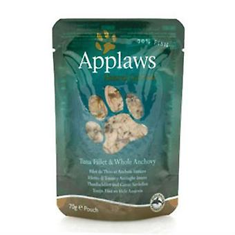 Applaws filet de thon et anchois entier cat alimentaire 70g (cas de 8)