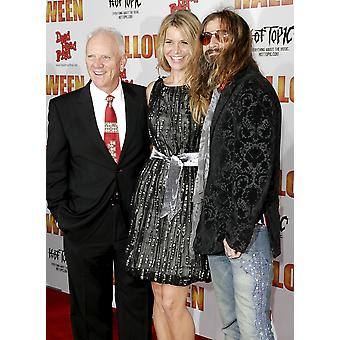 Malcom Mcdowell Sheri Moon Rob Zombie At Arrivals For Halloween Premiere GraumanS Chinese Theatre Los Angeles Ca August 23 2007 Photo By Adam OrchonEverett Collection Celebrity