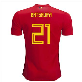 2018-2019 Belgien Adidas hem skjorta (Batshuayi 21)