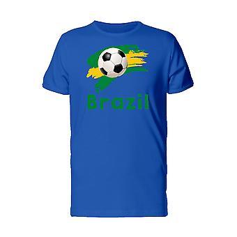 Спорт футбол футбол мяч Бразилии Мужская Черная футболка