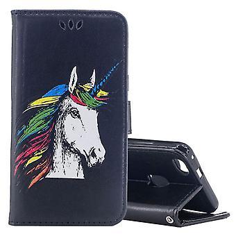 Pocket tegnebog Unicorn sort for Huawei P10 Lite beskyttelse ærme tilfælde dække pose nye