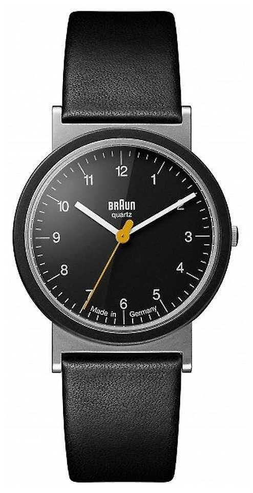 Braun Classic 1989 Tribute Design Black Leather Strap Black Dial AW10 Watch