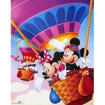 Mickey & Friends Hot Air Balloons Poster Print by Walt Disney (22 x 28)