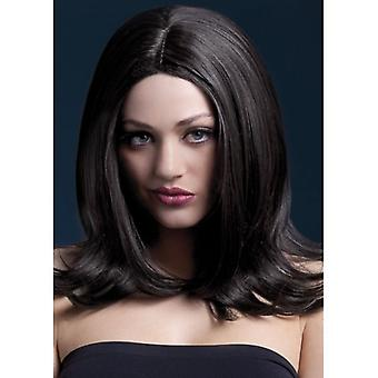 "Smiffy's Fever Sophia  Wig Brown, Layered With Centre Parting (17"", 43cm)"