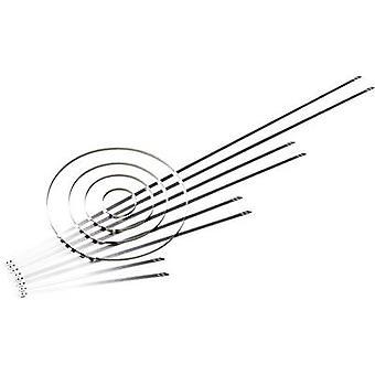 HellermannTyton 111-01552 MST700S Kabeldas 700 mm 5,90 mm Zilverbalslot, Hittebestendig 1 pc(s)