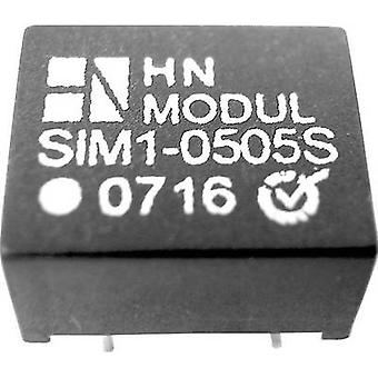 HN Power SIM1-0512D-DIL8 DC/DC converter (print) 5 V DC 12 V DC, -12 V DC 50 mA 1 W No. of outputs: 2 x