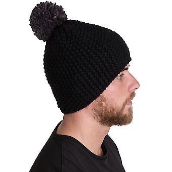 Outdoor Look Mens Ullapool Pom Crochet Winter Beanie Ski Hat