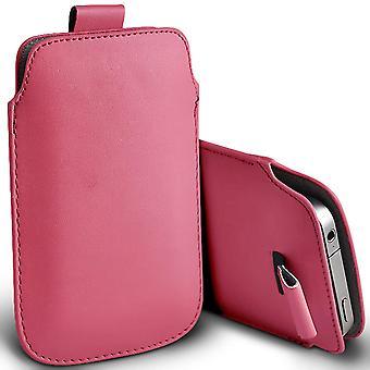 ONX3 (rosa) Premium Slip In Pull Tab Hülse Kunstleder Tasche Case Cover für Doopro C1 Pro [XXL]